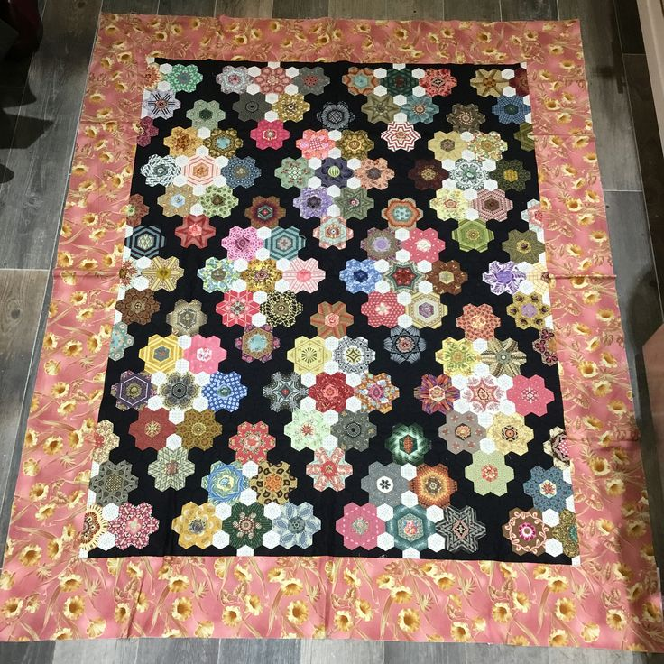 "I started this quilt in the late summer of 2016 and it has been waiting for the two final borders which will be a narrow black band followed by a faded buttery striped border. I really would like to finish and enjoy this quilt so I think that it should be moved up on the ""to be finished "" list! All the best of the season to you and yours!"