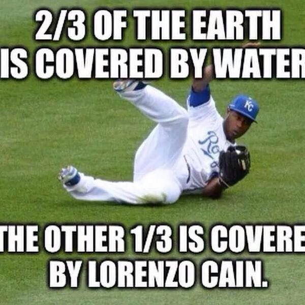 Lorenzo Cain catches everything
