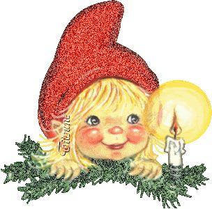 CHRISTMAS ELF CANDLE GIF
