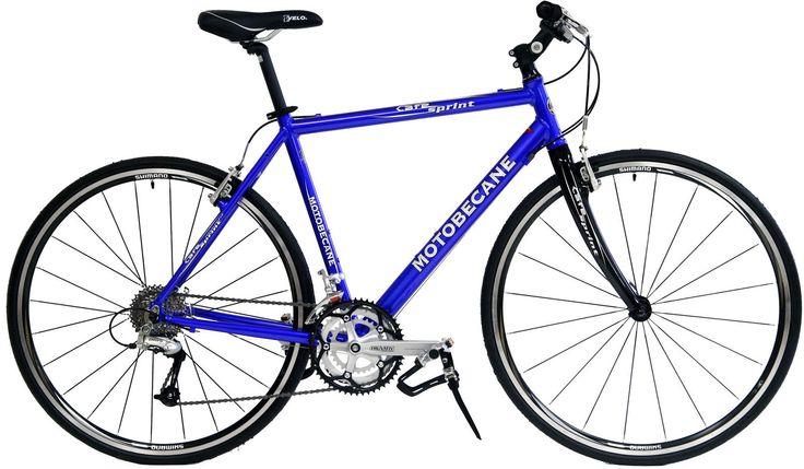 MOTOBECANE CAFE SPRINT 15in BLUE HYBRID / FLAT BAR ROAD BIKE SHIMANO NEW  price 220$