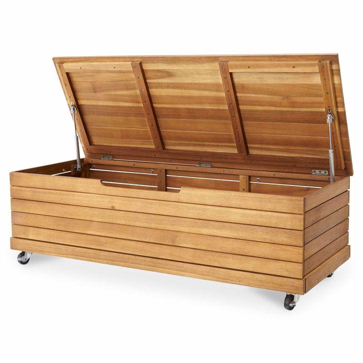 Denia Wooden Garden Cushion Storage Box | Departments | DIY at B&Q