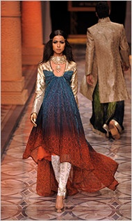Indian fashion parades like the peacock---though I can do without the tail