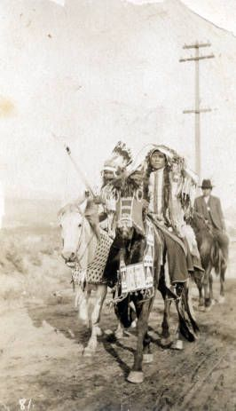 Two Nez Perce men and one other man on horseback :: MS 320 Paul Dyck