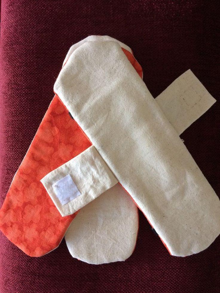 Handmade Reusable Cloth Fabric Period Menstrual Sanitary Pads approx.7cmx21cm  | eBay