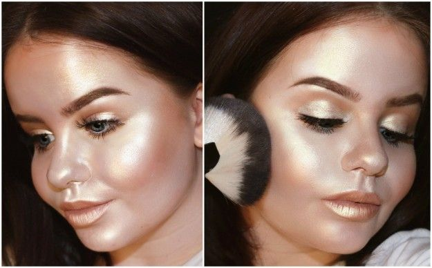 …to contouring your entire face with the shiny stuff. | This Pizza Highlighter…