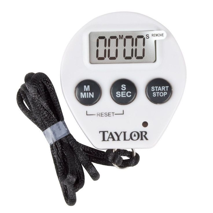 Taylor Precision Products Chef'S Digital Timer Stopwatch Clock W/ Lanyard 5816N