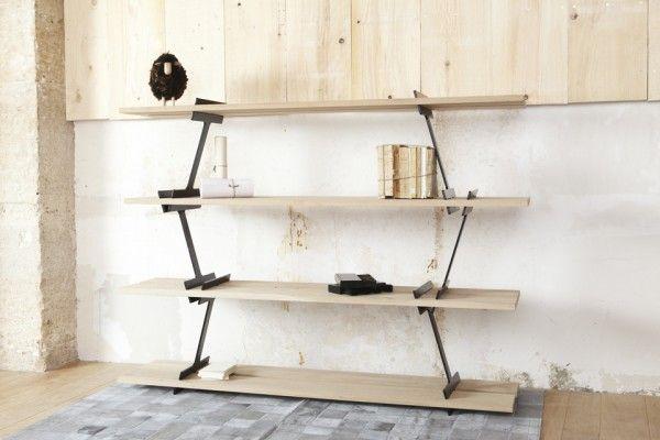 Creative bookshelves modern modular fascinating Leicht Holz