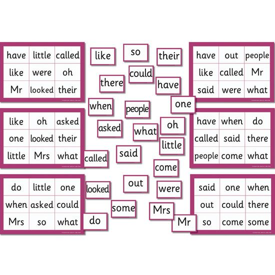 Phase 4 /5 Tricky Word Bingo--Clever idea for a short bingo game