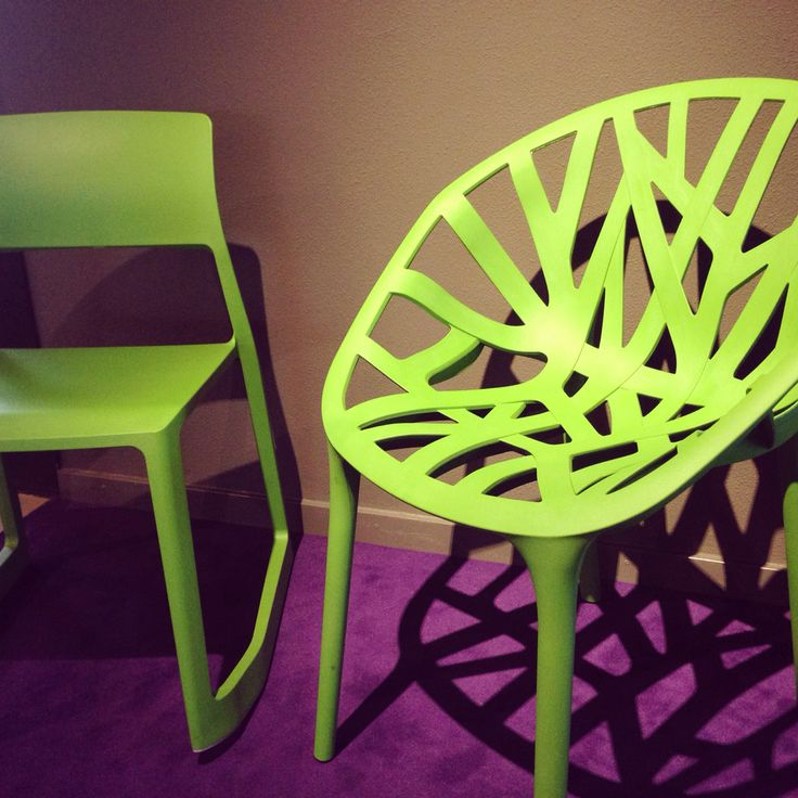 Groene design stoel van Vitra
