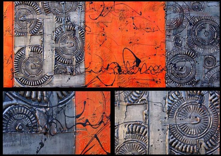 Painted Creation - Black White & Orange