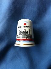 Red Funnel Ferry Fine Bone China Thimble
