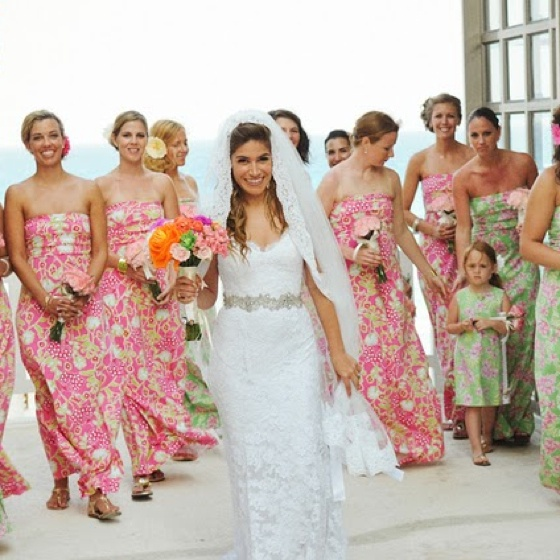 Kinda Cool Printed Pink Lovely Sarong Bridesmaid Dresses Beach Wedding Attire Blue For A Eyed Pinterest
