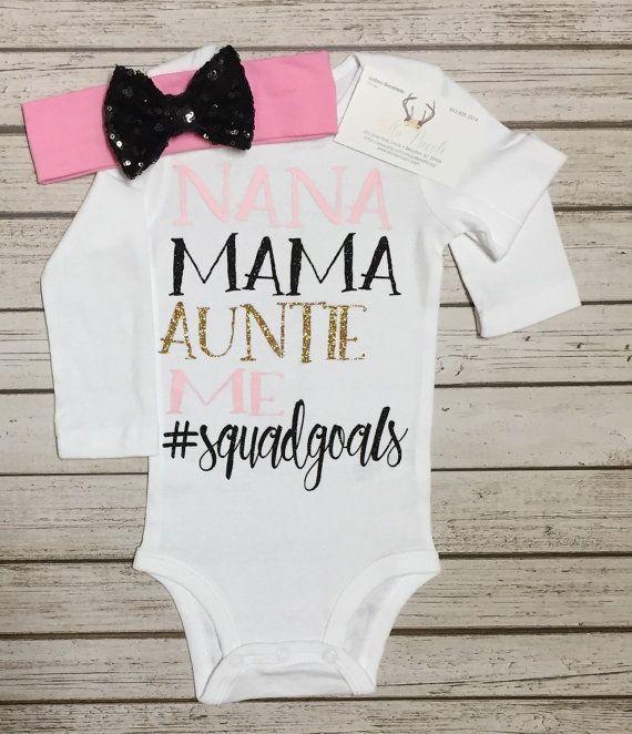 Baby Girl Clothes squadgoals shirtsNana Shirts Grandparent