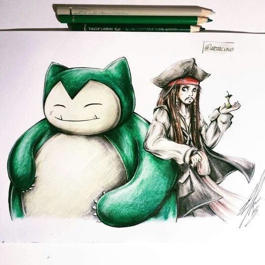 Snorlax and Captain Jack Sparrow