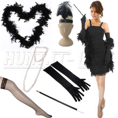Ladies fancy #dress #accessories flapper 20s theme charleston costume #gatsby gir,  View more on the LINK: 	http://www.zeppy.io/product/gb/2/261956988971/