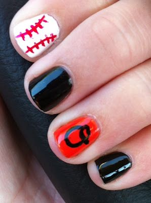 Baltimore Orioles Nails. Sooo glad I found this!