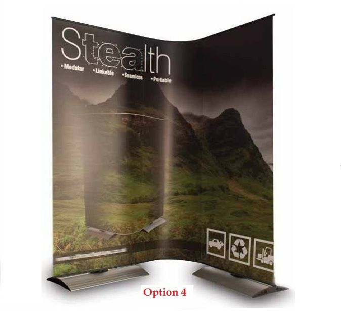 2x Stealth Banners + 2x Carry Bags + 1x Stealth Flexi Kit - (holds 2x *Graphics)