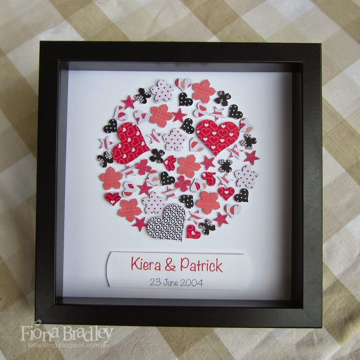 Love heart shadow box $35 customised (+ postage Australia wide only) Just Spiffing - Fiona Bradley - Stampin Up