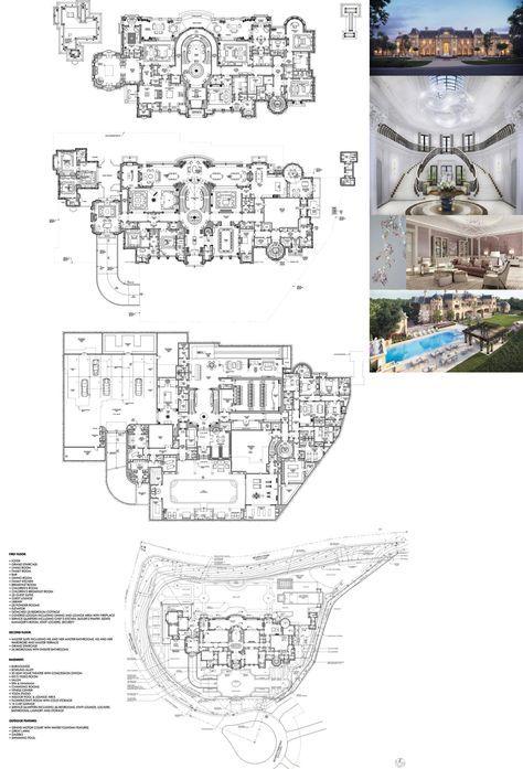 Fresh Prince Of Bel Air House Floor Plan : fresh, prince, house, floor, Beverly, Hills, Mansion, Design, Proposal, Million, Floor, Plans, Designs,, Plan,, Luxury, House