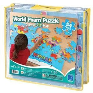 "Learning Resources 4810 Ed In World Foam Map Puzzle by Learning Resources. $21.76. Educational Insights World Foam Map PuzzleYou've got the whole world in your hands with this giant, fun-to-assemble foam puzzle. A great introduction to foreign countries, oceans, and exotic animals from every corner of the world, the 2' x 3' puzzle includes 54 extra-soft foam pieces that are water-resistant and easy to clean. Grades Pre-K+/Ages 3+EI-4810 ""                       ..."