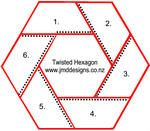 JMD Designs Tutorial- English Paper Piecing - Twisthed Hexagon with Hand Quilting
