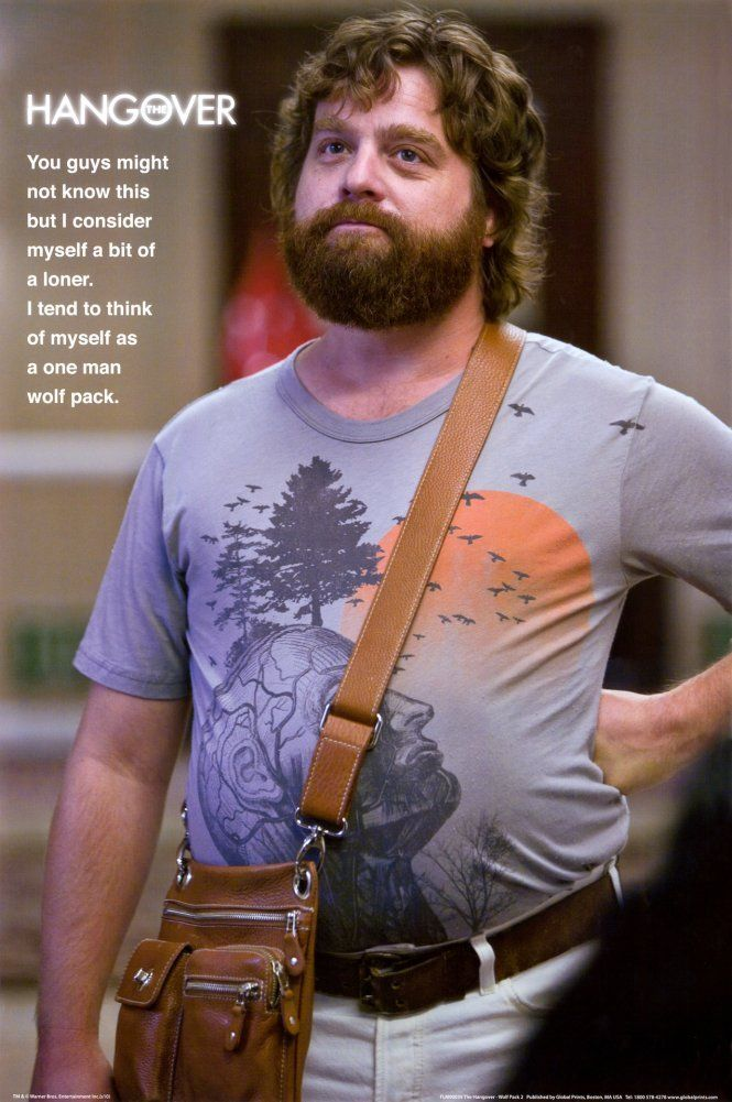 The Hangover Movie One Man Wolf Pack 24-by-36-Inch Poster Print