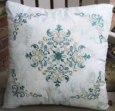 Pillows Stitched with Filigree Dreams image2