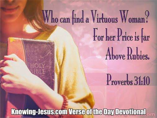 Scripture On Virtuous Woman 85