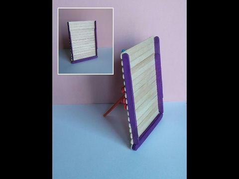 DIY - Popsicle stick photo frame ♡ Ξύλινη κορνίζα με ξυλάκια - YouTube