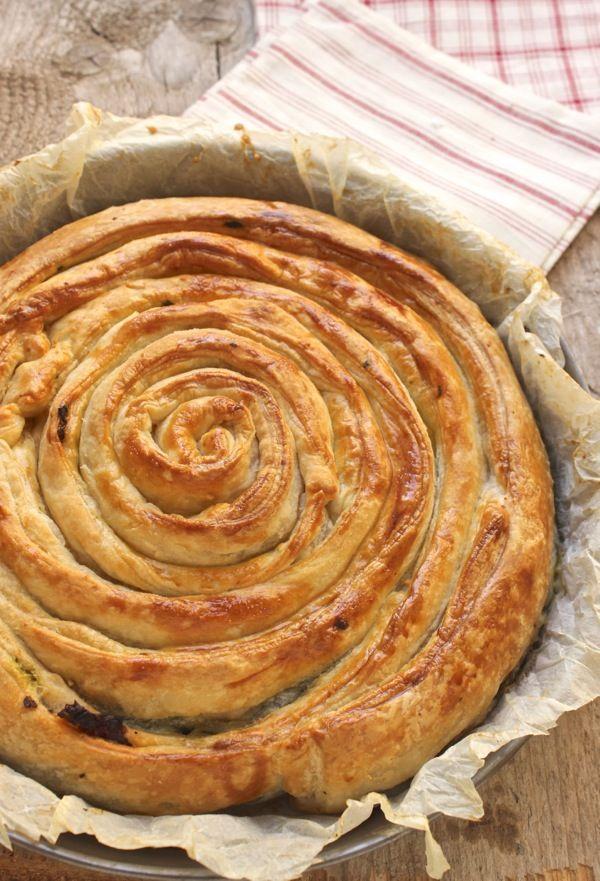 Oggi alla Prova del cuoco: torta chiocciola con spinaci
