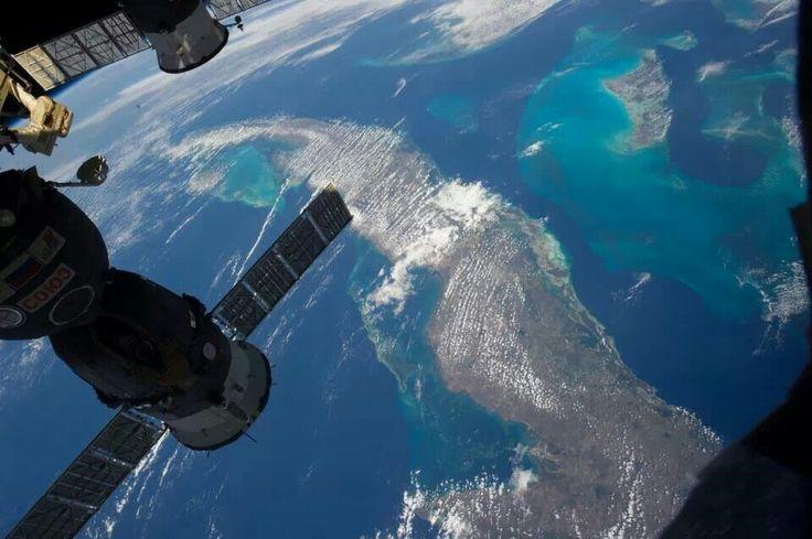 Visión mas linda desde estación espacial internacional.