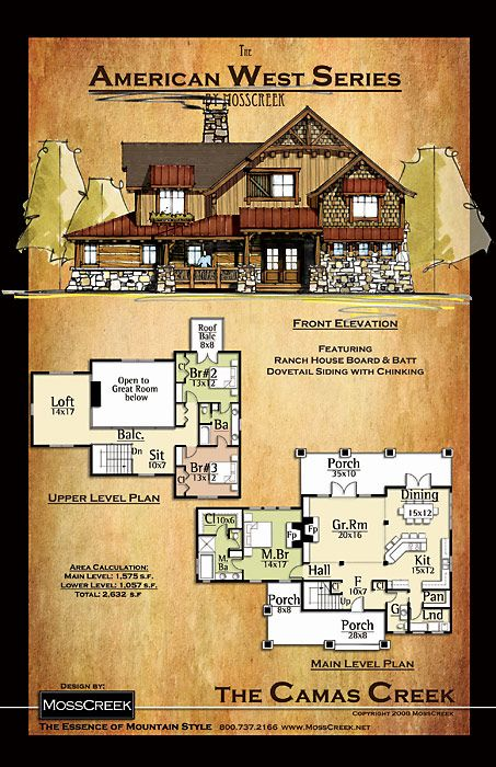 MossCreek, Designers of Luxury Timber Frame, Hybrid and Log Homes. Custom & stock home plans available.