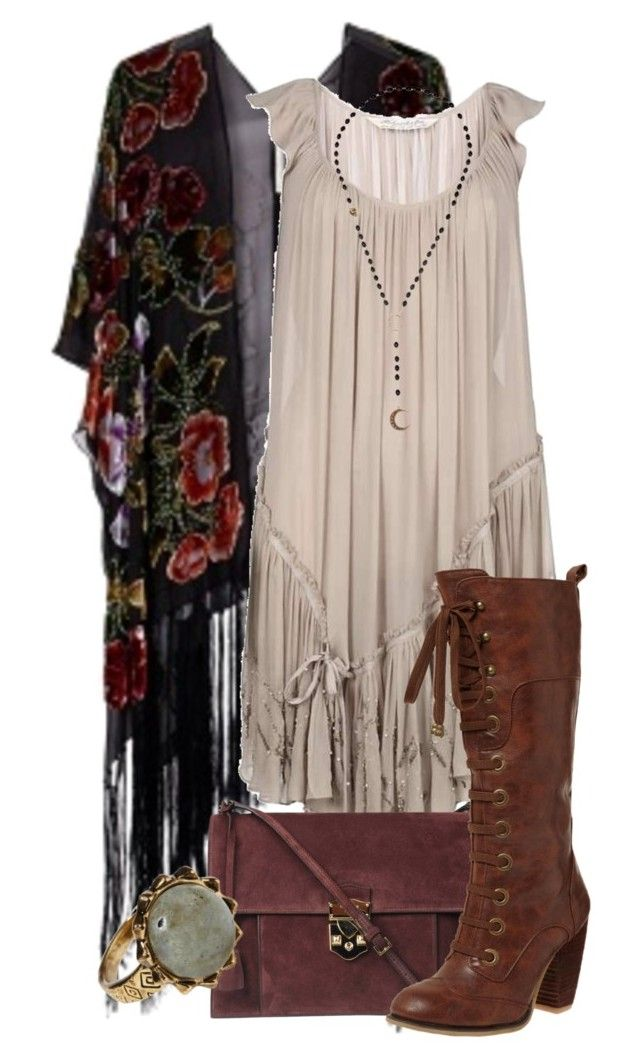 American horror Story- Misty Day by darcy-watson on Polyvore featuring AllSaints, Kite and Butterfly, Rochas, Alkemie and House of Harlow 1960