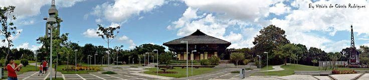Fotografia panorâmica tirada no Mangal das Garças em Belém do Pará.