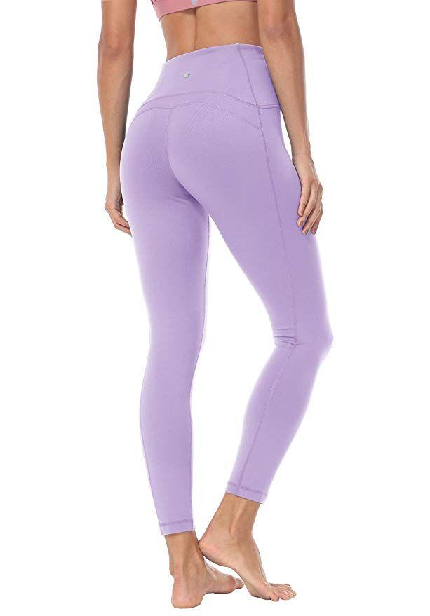 e3efaaf0a60 Queenie Ke Women Yoga Leggings Nine Pants Power Flex High Waist Gym Running  Tights Size S