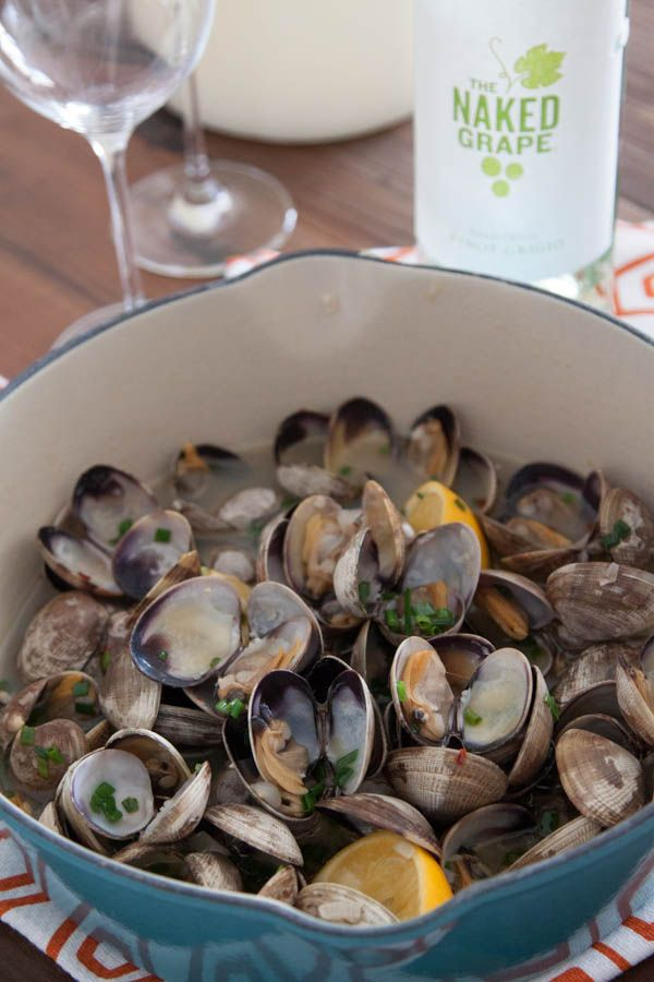 Steamed Clams with Garlic and Chives