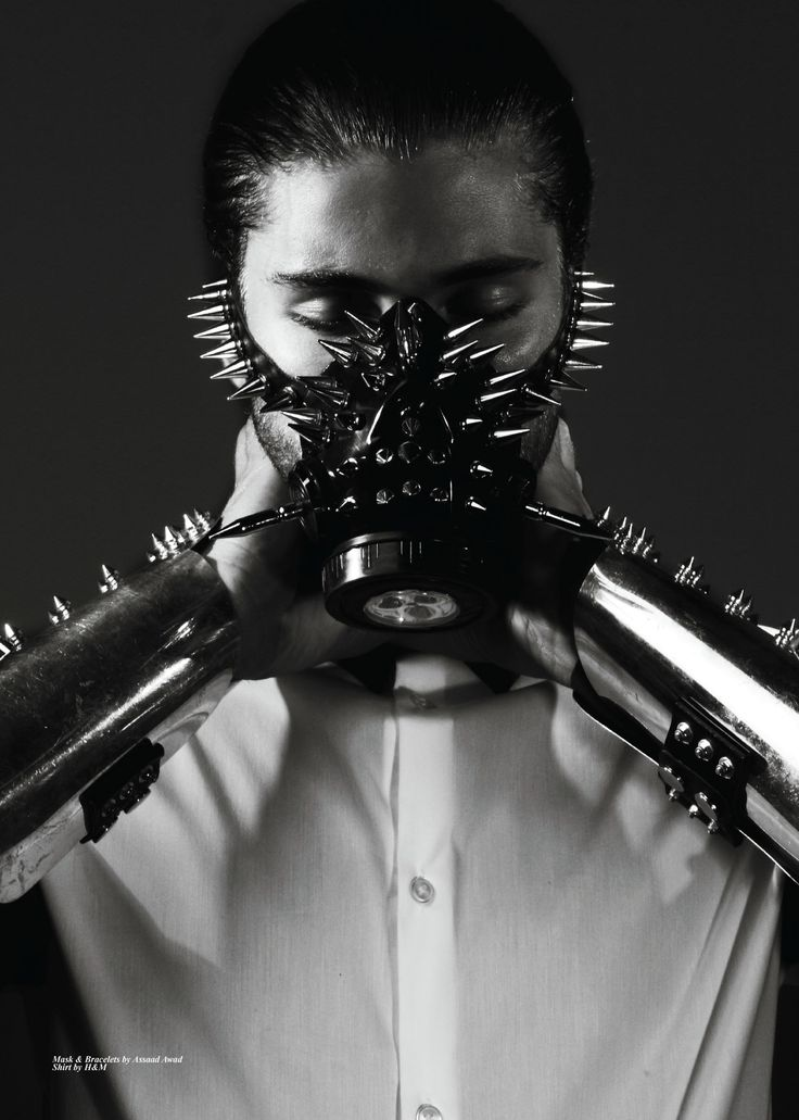 Carbon Copy Issue #16 - Mask and Bracelets by Assaad Awad