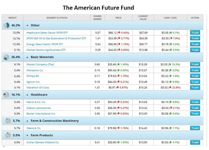 Stock options portfolio