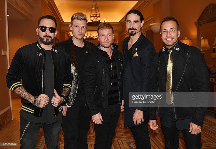 December 31, 2016, Backstreet Boys back stage at a private show at Caesars Palace in Las Vegas on New Year's Eve at Caesars Palace in Las Vegas, Nevada.