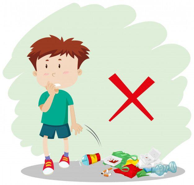 A Boy Throwing Garbage On Street Free Vector A Boy Downloads Free Garbage Images On Photos Carteles Para Ninos Diseno De Viaje Diseno De Ilustracion
