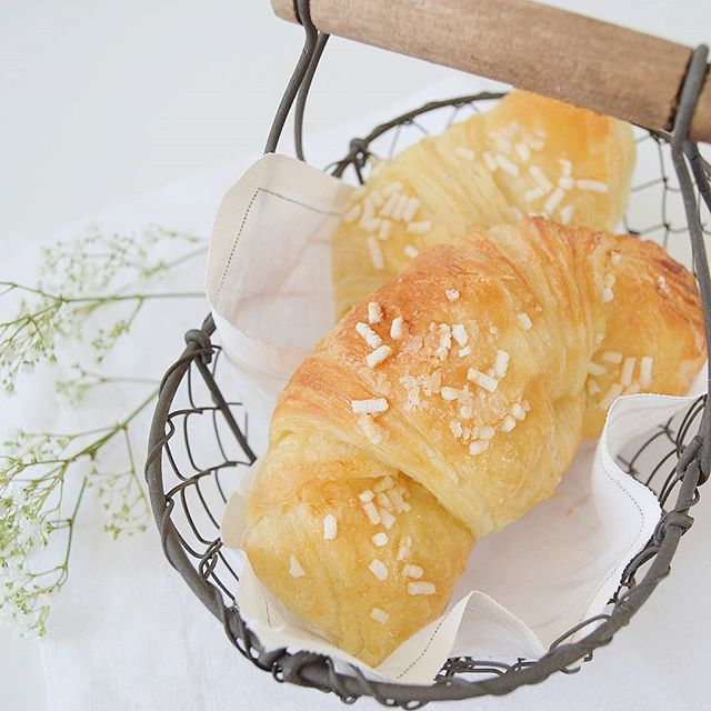 #croissant #homemade #ricetteaquadretti #thisishome