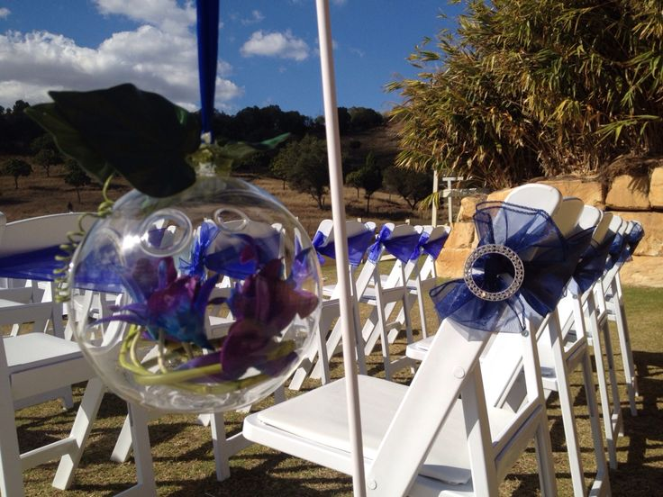 Chair decorations-Americana bows and bling