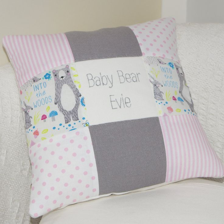 Baby Bear Name Cushion