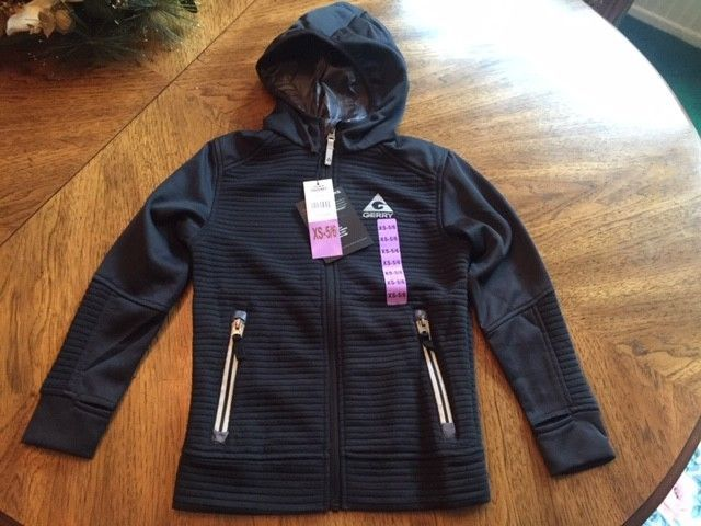 Boy/'s Gerry Outdoor Full Zip Rib Fleece Jacket Hood Black Small 7//8 *NEW!*