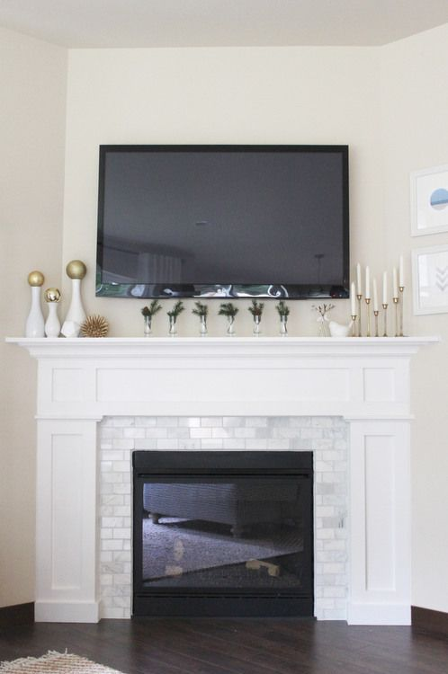 feeling lovesome: projects...trim aRound fire place