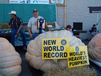 Largest Pumpkin World Record | 2012 World Record- 2009 Pound Giant Pumpkin Pictures from Pumpkin Nook