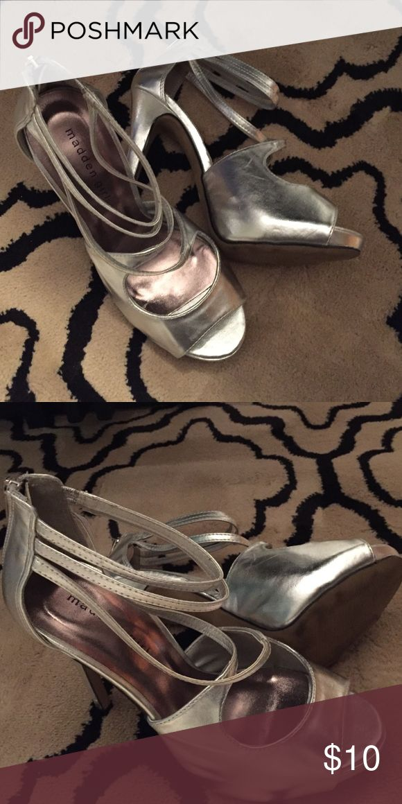 Madden Girl Baaylee Dress Sandal Madden Girl Silver Dress Sandal Madden Girl Shoes Heels