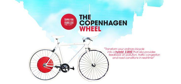 Copenhagen green wheel è un concentrato di tecnologia in grado di trasformare qualsiasi bicicletta in un'elettrica a pedalata assistita, ma soprattutto di farci entrare nell'era del biking 2.0.