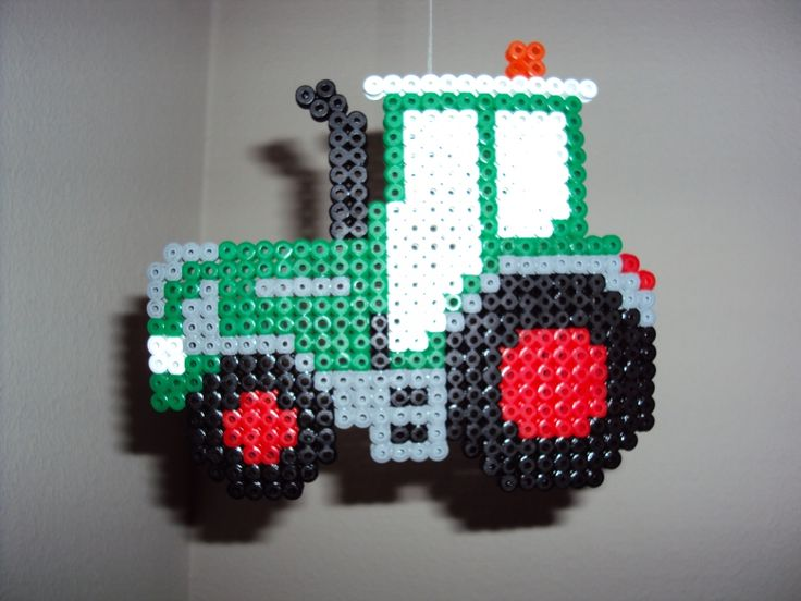 Tractor hama beads by Patrick