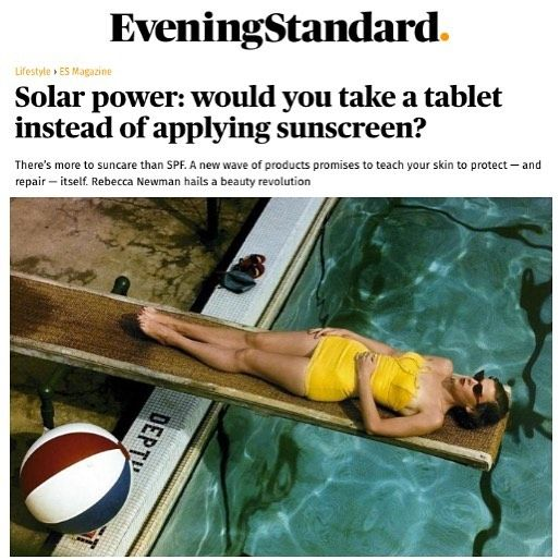 There's so much more to suncare than SPF! Grab a copy of @eveningstandardmagazine or check out this piece online for Bianca Estelle's take, featuring our Solar Defence Oral Supplements which help enhance UV protection and build a resilient complexion from within 👊…